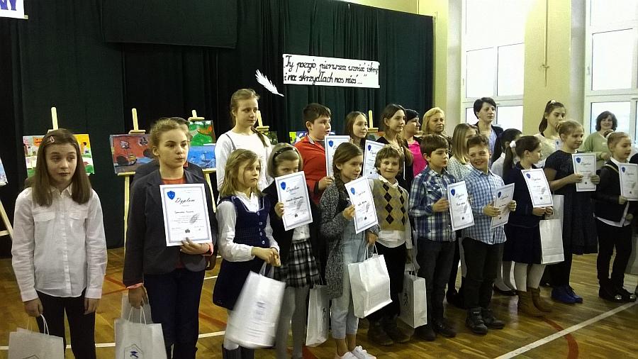 Zespół Szkół w Biesowicach Wyróżnienie w Wojewódzkim Konkursie Recytatorskim
