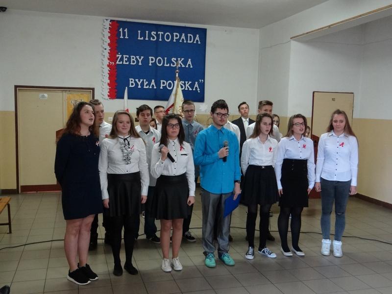 Zespół Szkół w Biesowicach Przegląd Pieśni Patriotycznej - 11 listopada