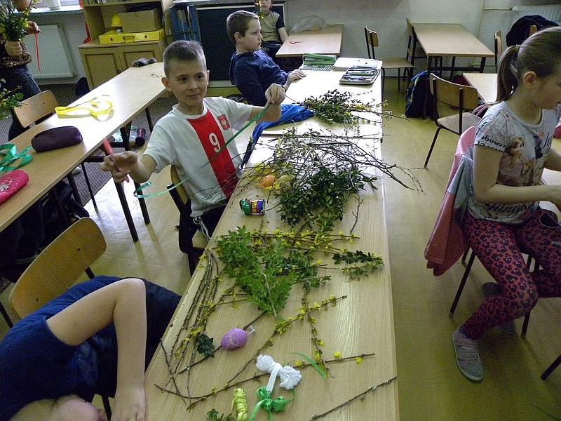 Zespół Szkół w Biesowicach Palmy Wielkanocne